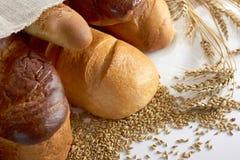 Świeży chleb na drewnianym worktop Obrazy Royalty Free