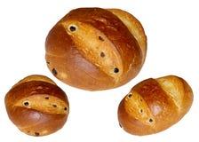 Świeży chleb odizolowywający na bielu. Zdjęcia Stock