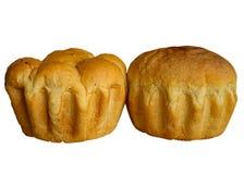 Świeży chleb odizolowywający na bielu. Fotografia Royalty Free
