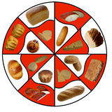 Świeży chleb odizolowywający na bielu. Zdjęcie Stock