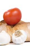 Świeży chleb z Tomatoe i Garlics Zdjęcia Stock