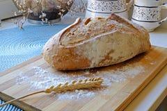 Świeży chleb z ziarno krajobrazu stroną szeroką Fotografia Stock