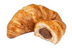 Świeży Croissant z czekoladowym plombowaniem Obrazy Stock