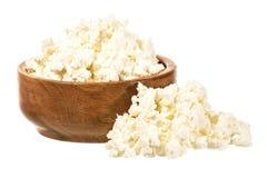 Świeży curd ser w pucharze zdjęcie stock