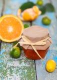 Świeży cytrusa dżem, owoc i Obrazy Royalty Free