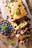 Świeży czarna jagoda bochenek chleba słodka bułeczka tort z nowym zbliżeniem ver Zdjęcie Royalty Free
