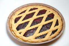 świeży czarna jagoda kulebiak Fotografia Stock