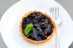 świeży czarnej jagody tarta Zdjęcie Royalty Free