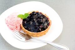 świeży czarnej jagody tarta Zdjęcia Royalty Free