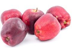 Świeży czerwony jabłko na pięknym białym tle Obraz Stock