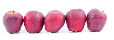 Świeży czerwony jabłko na pięknym białym tle Zdjęcie Royalty Free