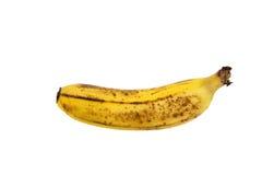 Świeży dojrzały banan odizolowywający Fotografia Royalty Free