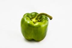 Świeży dojrzały zielony pieprz Fotografia Stock