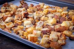 Świeży Domowej roboty chleba crouton zdjęcie royalty free