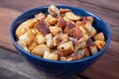 Świeży Domowej roboty chleba crouton fotografia royalty free