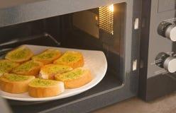 Świeży domowej roboty czosnku chleb Obraz Royalty Free