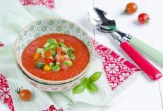 świeży gazpacho Fotografia Royalty Free