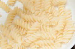 Świeży gotujący makaronu spaghetti jako źródło powikłani węglowodany dla atlet obraz stock