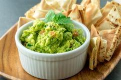 Świeży guacamole puchar Zdjęcia Stock