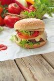 Świeży hamburger Zdjęcie Royalty Free
