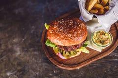 Świeży hamburgeru zbliżenie Fotografia Royalty Free
