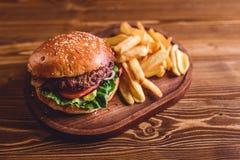 Świeży hamburgeru zbliżenie Fotografia Stock
