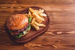 Świeży hamburgeru zbliżenie Obraz Stock