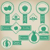 Świeży I Organicznie Owocowy etykietka projekt Zdjęcie Royalty Free