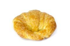 Świeży i smakowity croissant nad białym tłem Fotografia Royalty Free