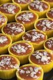 Świeży i smakowity karmelu cheesecake Fotografia Royalty Free
