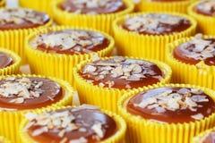 Świeży i smakowity karmelu cheesecake Zdjęcie Royalty Free