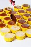 Świeży i smakowity karmelu cheesecake Fotografia Stock