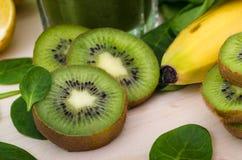 Świeży i zdrowy zielony smoothie Obraz Royalty Free