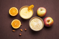 Świeży jabłko i sok pomarańczowy Obraz Stock