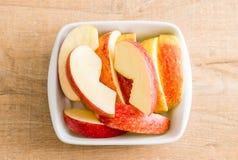 świeży jabłko pokrajać zdjęcie royalty free