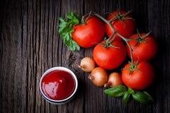 Świeży ketchup Zdjęcie Royalty Free