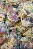 Świeży kiszony mięso dla shish kebabu na widok fotografia stock