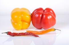 Świeży, Kolorowy Bell, i chili pieprze - Akcyjny wizerunek zdjęcie royalty free