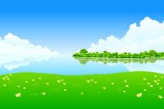 świeży krajobraz ilustracja wektor