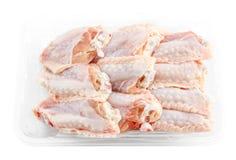 Świeży kurczaka środek uskrzydla w pakunku obraz stock