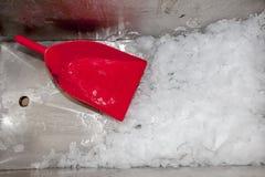 Świeży lód z czerwieni du piędzią Fotografia Stock