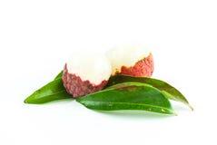 Świeży lychee odizolowywający Zdjęcie Royalty Free