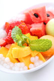 Świeży mango i arbuz Zdjęcia Stock