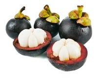 Świeży mangostan odizolowywający na białym tle, elemencie karmowe zdrowe odżywki i owocowym zdrowym pojęciu, obrazy stock