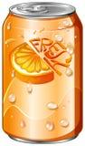 Świeży napój w pomarańcze puszce ilustracji