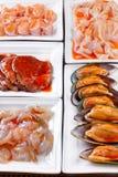 Świeży owoce morza w Azjatyckim stylu Fotografia Stock
