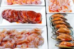 Świeży owoce morza w Azjatyckim stylu Zdjęcia Royalty Free