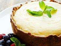 świeży piec cheesecake Fotografia Stock