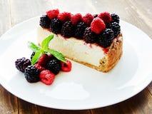 świeży piec cheesecake Zdjęcie Stock