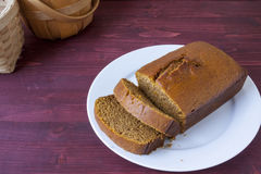 Świeży piec dyniowy chleb Fotografia Royalty Free